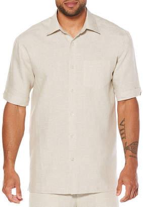 Cubavera Short Sleeve 100% Linen Guyabera