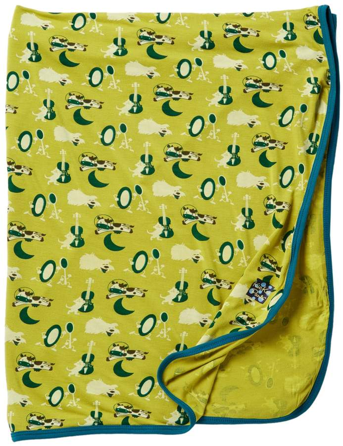 KicKee Pants Swaddling Blanket in Citronella Hey Diddle Diddle