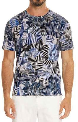 Robert Graham Prado Illusion-Print T-Shirt