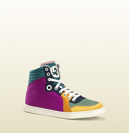 Gucci Coda Multicolor Satin High-Top Sneaker