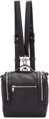 McQ Black Mini Convertible Box Backpack