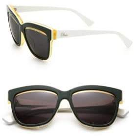 Christian Dior Graphic 55MM Round Sunglasses
