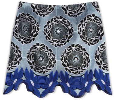 Thakoon Lace Hem Mini Skirt