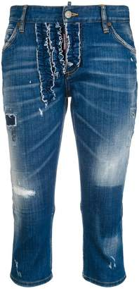 DSQUARED2 slouch pedal pusher jeans