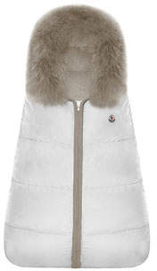 Moncler Quilted Fur-Trim Bunting Bag