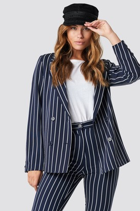 Na Kd Trend Navy Striped Blazer
