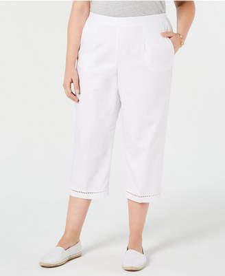 5b3a96040a6 Alfred Dunner Plus Size Palm Coast Capri Pants