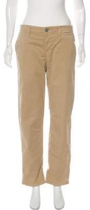 J Brand Mid-Rise Straight-Leg Pants