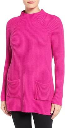 Women's Chaus Two-Pocket Mock Neck Tunic Sweater $69 thestylecure.com