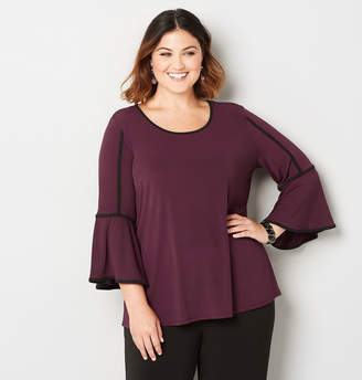 Avenue Piped Bell Sleeve Top