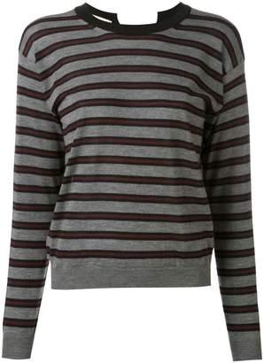 Marni striped open back jumper