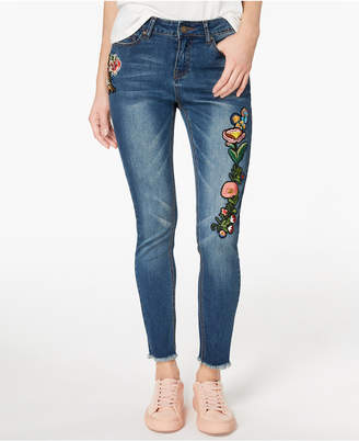 Indigo Rein Juniors' Embroidered Skinny Jeans