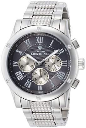 Lion Heart (ライオン ハート) - [ライオンハート]Lion Heart 腕時計 W101 ステンレススチール グレー文字盤 クロノグラフ クォーツ 日常生活防水 LHW101SGY メンズ 腕時計