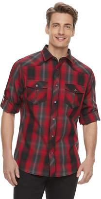 Rock & Republic Men's Western Plaid Button-Down Shirt