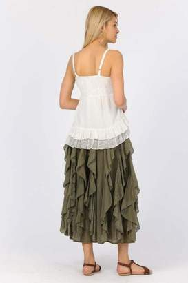 Apparel Love Ruffled Maxi Skirt