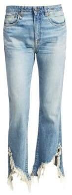 R 13 Kick Fit Crop Flare Cotton Jeans