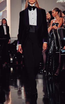 Ralph Lauren Wilde Two-Tone Velvet Tuxedo Jacket Size: 0