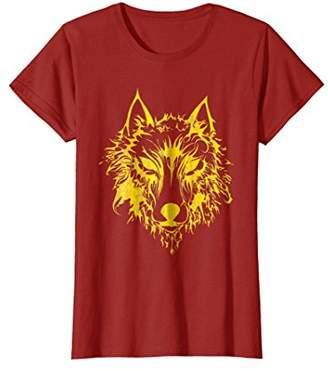 Nordic Gold Fenrir Wolf Odin T Shirt Valhalla Mjolnir Wild