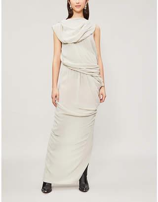 Rick Owens Branch draped silk gown