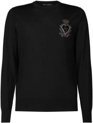 Dolce & Gabbana Logo Applique Sweater