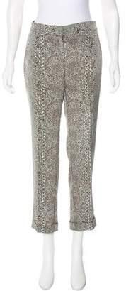 Tory Burch Printed Mid-Rise Pants