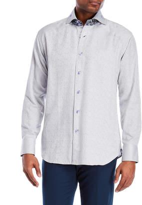 Bogosse Peter Grey Printed Sport Shirt