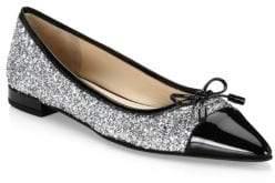 Prada Glitter Ballerina Flats
