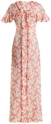 THE VAMPIRE'S WIFE Charlotte floral-jacquard satin dress