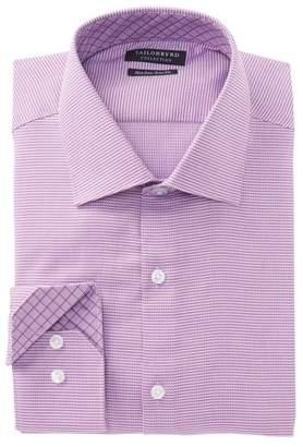 Tailorbyrd Houndstooth Trim Fit Dress Shirt