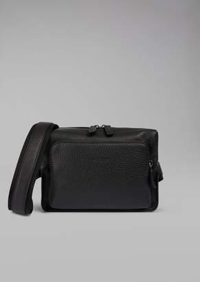 Giorgio Armani Grainy Calfskin Leather Belt Bag