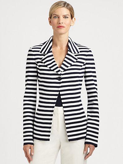 St. John Striped Milano Knit Blazer