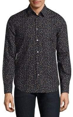 Paul Smith Mini Bird Cotton Button-Down Shirt