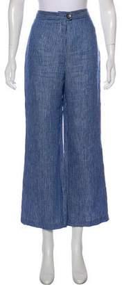 Mara Hoffman Linen High-Rise Striped Pants