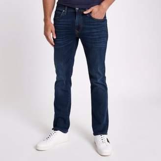 River Island Mens Dark blue bootcut jeans