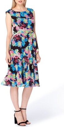 Women's Tahari Floral Fit & Flare Dress $128 thestylecure.com