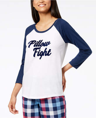 Macy's Jenni by Jennifer Moore Raglan-Sleeve Graphic Pajama Top, Created for