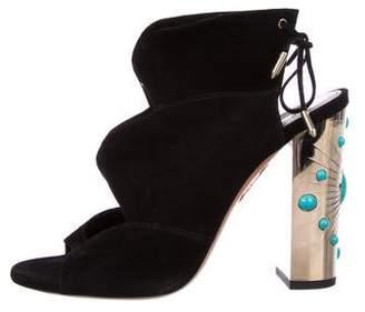 Aquazzura Suede Open-Toe Sandals