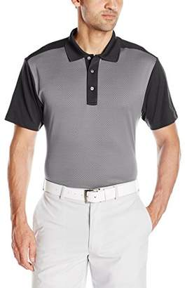 PGA TOUR Men's Golf Performance Short Sleeve Mini Argyle Jacquard Polo Shirt