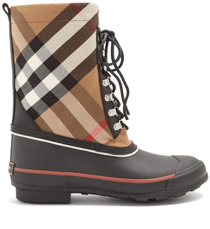 BURBERRY House-check rain boots