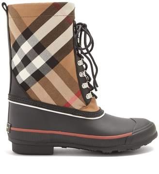 Burberry House-check rain boots