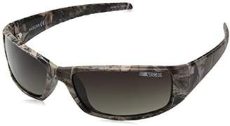 Nascar Draft 102P Polarized Wrap Brown Demi Sunglasses