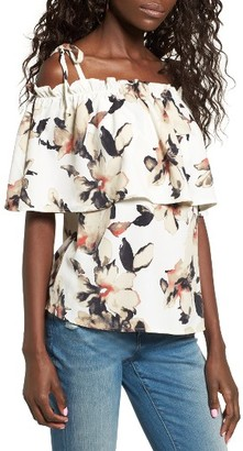 Women's Leith Off The Shoulder Floral Top $55 thestylecure.com
