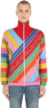 Gucci Intarsia Cotton Jersey Jacket