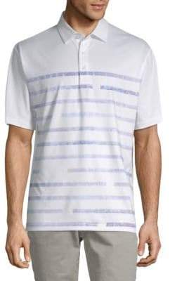 Callaway Striped Short-Sleeve Polo