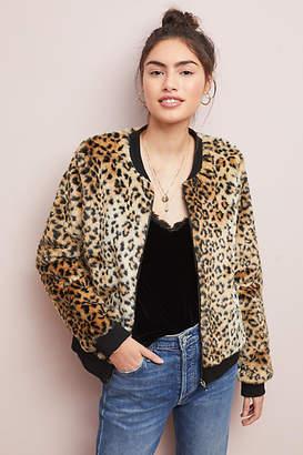 Skies Are Blue Leopard Faux Fur Jacket