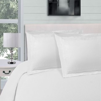 Superior Light Weight and Super Soft Brushed Microfiber, Wrinkle Resistant Duvet Cover Set with Infinity Embroidery