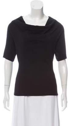 Charles Chang-Lima Cowl Neck Short Sleeve Top w/ Tags Black Cowl Neck Short Sleeve Top w/ Tags