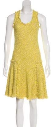 Lanvin Tweed Sleeveless Knee-Length Dress