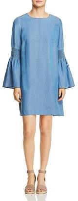 BeachLunchLounge Chambray Bell Sleeve Shift Dress