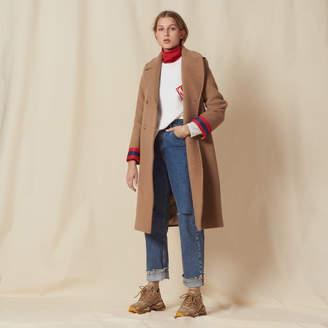 Sandro Wool coat with fancy cuffs